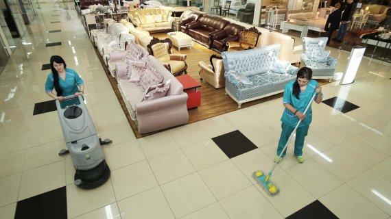 Уборка торговых центров и магазинов